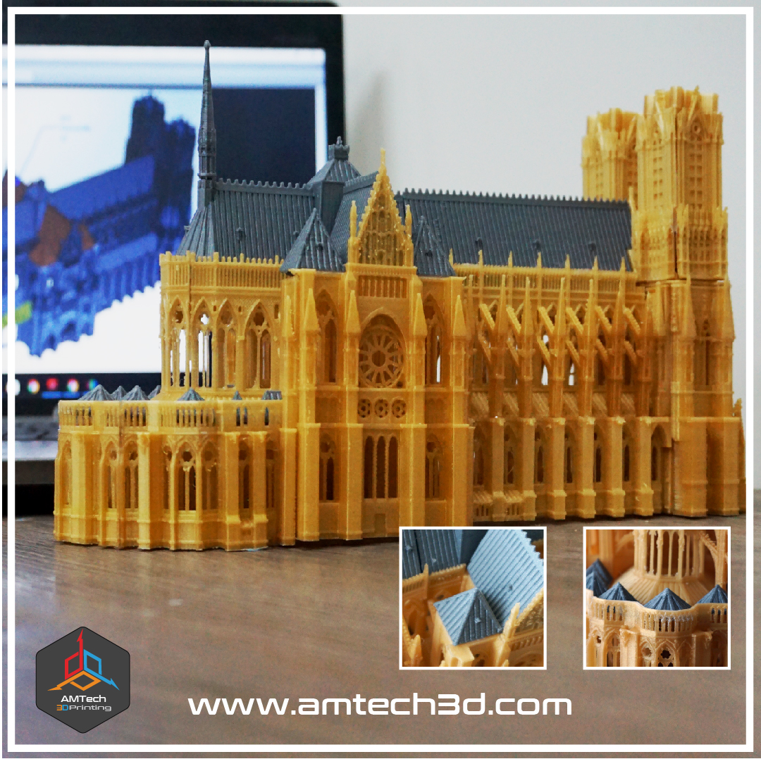 3D Printed Scale Model of the Notre Dame Cathedral